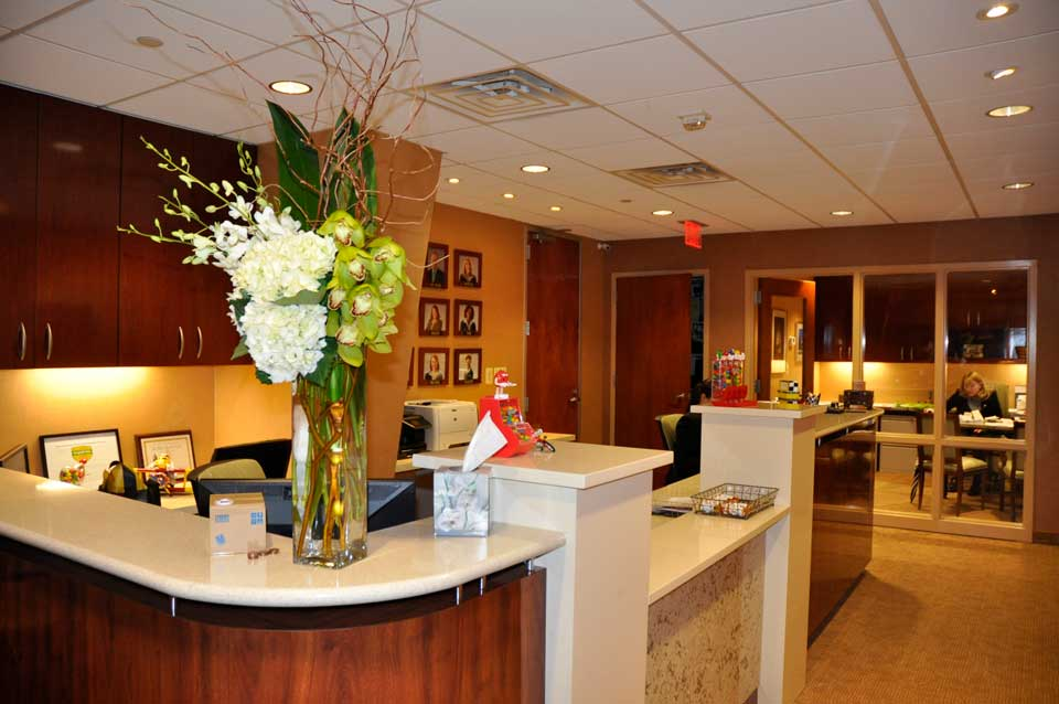 Reception area at the office of City Smiles DC