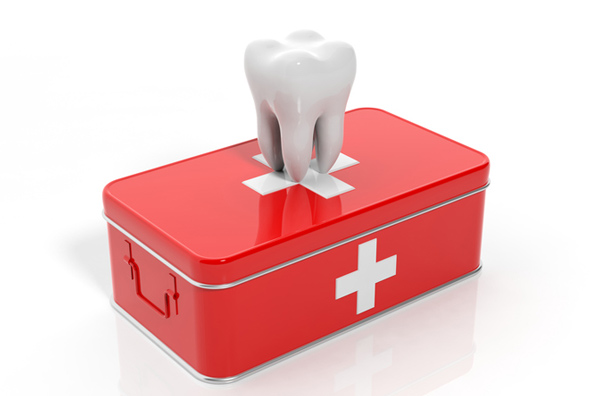 Rendering of tooth on emergency kit from City Smiles DC in Washington, DC